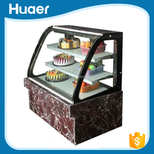 Counter Top Curve Glass Refrigerated Cake Display Cases/Cake Display Cabinet
