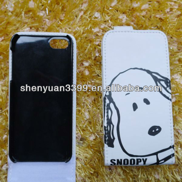 2013 new product factory price high quality wholesale flip smart pu cell phone case for iphone 5 original