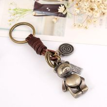 Little bear metal fancy shape keyring custom 3d animals shape keychain