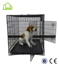 China manufacturer wholesale folding with two door large dog crate