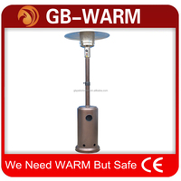 Telescopic tube with tank patio heater