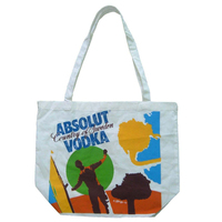 eco friendly customized full color printed ladies handles carry canvas cotton tote bag