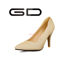 Snakeskin leather pointed toe high heels famous designer shoes gold heels women pump shoes