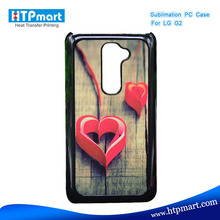 2D pc blank sublimation phone case shockproof heavy duty case cover for lg g2