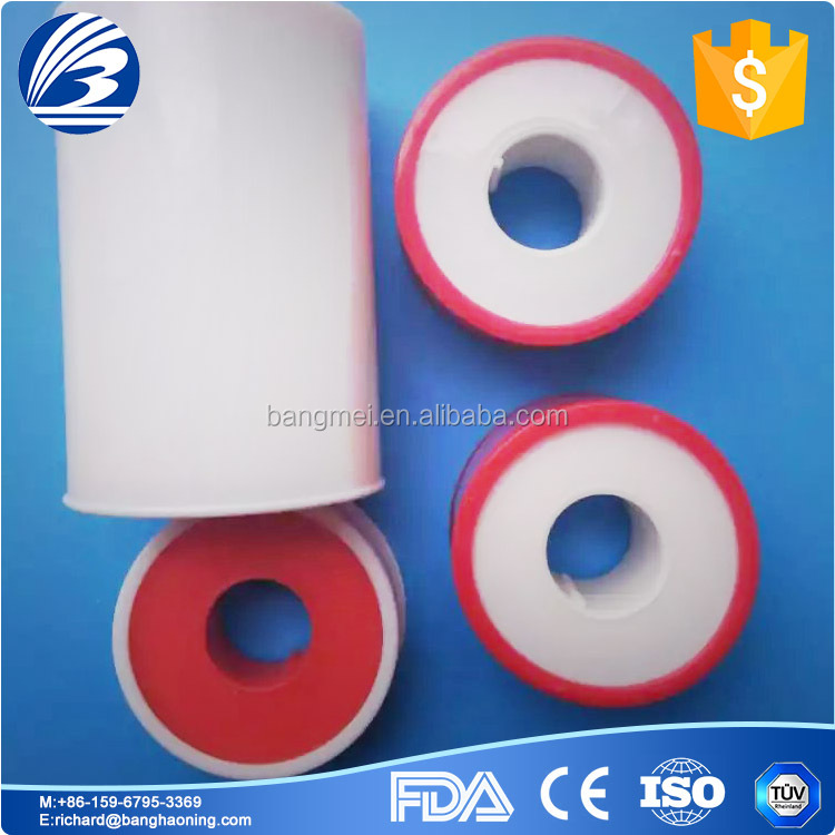 cheap medical tape with silk , zinc oxide plater, non-woven , PE, soft and reliable