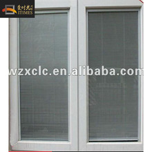 high quality aluminium window with louver insert