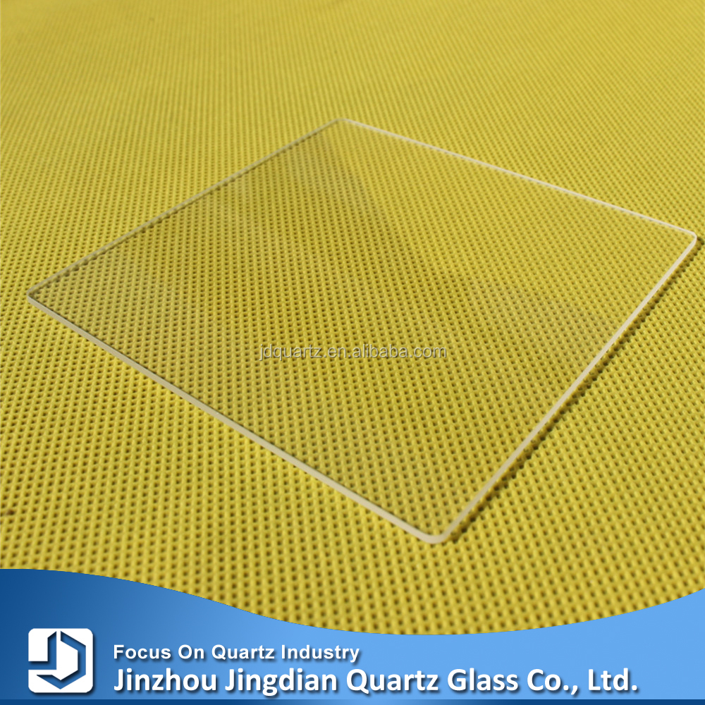 Clear thin quartz square glass plates