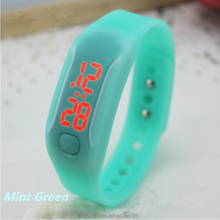 Cute jelly candy fluorescent color children led waterproof watch boys and girls students watch