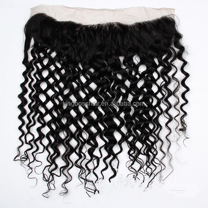 8A 9A 10A Grade Raw Indian Remy Hair Deep Wave Full Frontal Closure 13x4 Ear to Ear Lace Frontals with Baby Hair