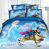 HOT Sale Movie Frozen Set of 4pcs Bed Flat Sheet Duvet Cover Pillowcases Baby Kids Toy