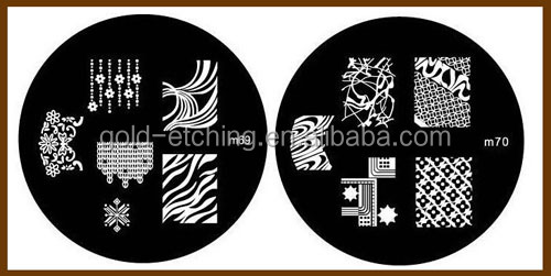 Factory price rectangle stainless steel nail arts custom nail art stamping plates for nail supplies