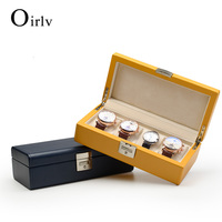 Oirlv Fashion unique Luxury High quality PU Leather velvet pillow travel case watch for Jewelry watch display