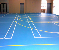 China factory whole sales SPU sport flooring material basketball court with low price