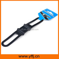 Black color functional silicone ties
