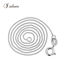 2017 cheap 925 sterling pure italian silver jewelry box chains for men & women