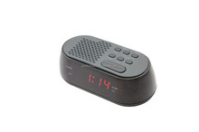 Red Digital USB Charging Mini fm Radio Snooze Bluetooth Speaker Alarm Clock