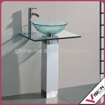 2014 manufacturing modern bathroom glass wash basin with for Wash basin mirror price