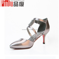 Genuine leather upper material leather red bottom latin salsa dance shoes/women summer sandals shoes footwear