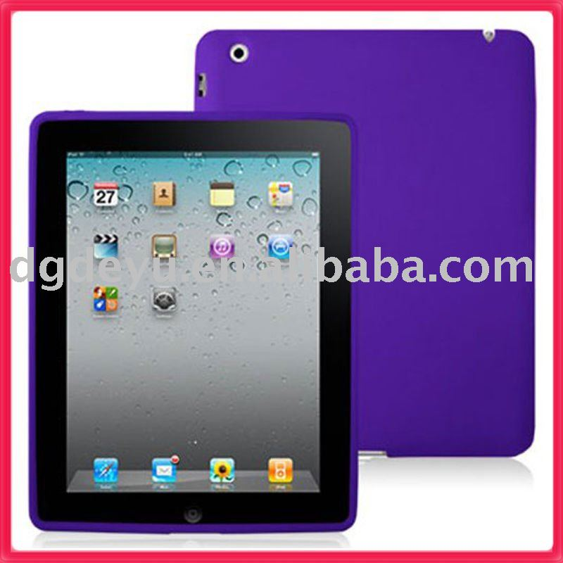 PROTECTOR FOR IPAD 2 SILICONE SOFT CASE COVER RUBBER CASE FOR IPAD COVERS PURPLE