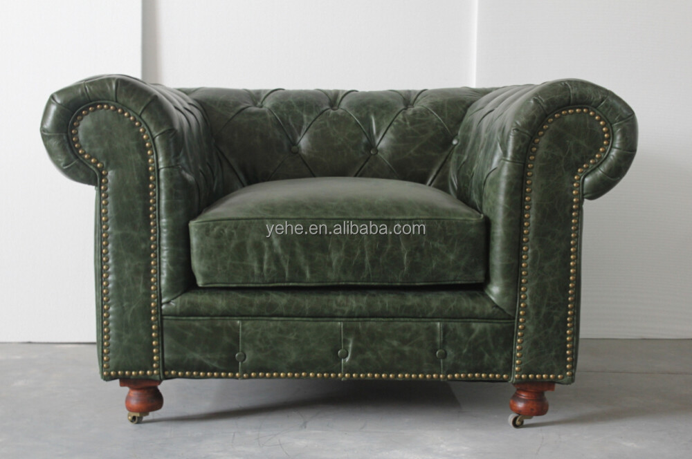 kuka leather sofa living room furniture couches antique furniture nice modern sofa for sale, Kensington button sofa, TD-01