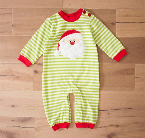 100% cotton christmas boutique baby clothing wholesale infant toddler boys knit stripes rompers