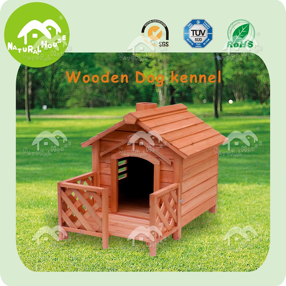 Easily-assembled wooden fancy dog kennels