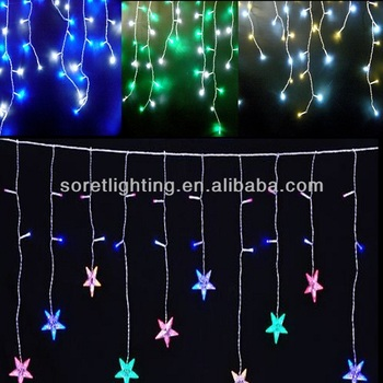 outdoor patio led icicle lights/chrismas window led decoration lights