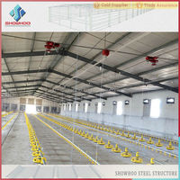 low cost controlled poultry farms stee broiler poultry house shed design for sale