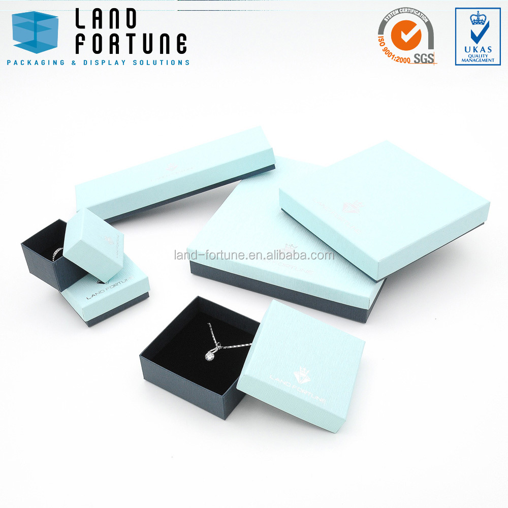 china wholesale manufacturer Square simple design custom box with lid paper jewellery packaging gift box