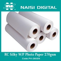 260gsm Best price premium RC inkjet silk photo paper for sale