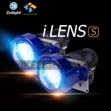 YIKE 10-18V 5500K 4000lm 3 inch universal car led projector headlight bi xenon projector lens kit h4 for suzuki swift