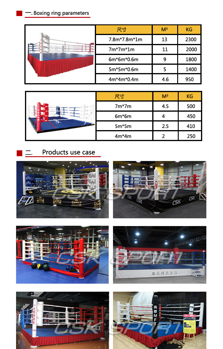 Best Selling CSK Championship Used 7M*7M*1M Boxing Ring