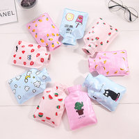 2018 wholesale cartoon cute colorful mini hot water bag,hot water bottle with cover