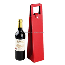 Personalized Leather Single Wine Bottle Carrier Bag