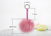 Manufacturers 12CM fur fur pendant hand imitation fox fur key chain pendant female package acrylic plush ornaments