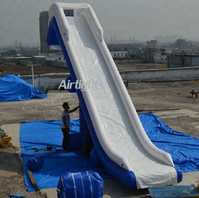 0.65mm PVC inflatable aqua <strong>slide</strong>, water park inflatable water <strong>slide</strong> on yacht