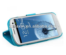 Beautiful colorful wallet leather case for samsung,for samsung galaxy s3 case