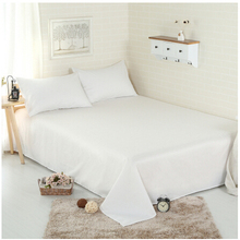 premium quality pure white or solid color egyptian cotton bed sheets used in hotel and home