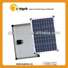 Chinese high power poly solar panel 30w price