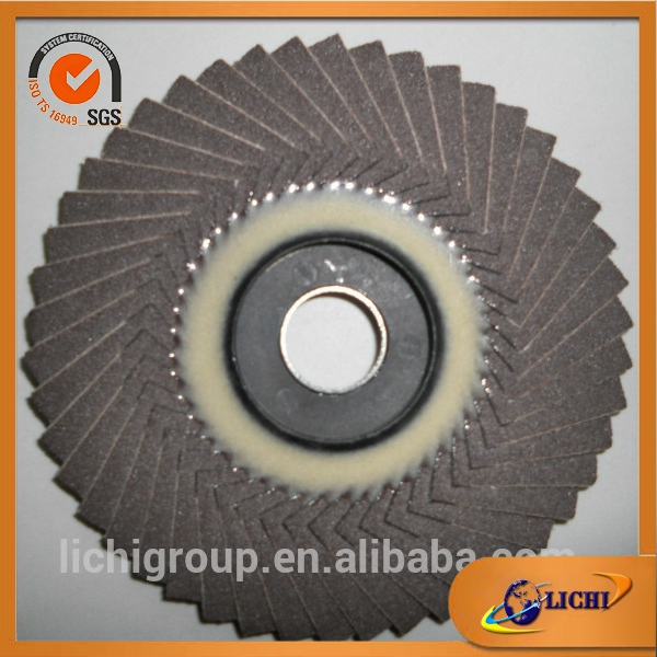 Abrasive plastic backing flap disc with Coated abrasive paper