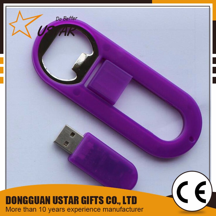 High quality cute usb flash drive keychain, bottle opener keychain usb