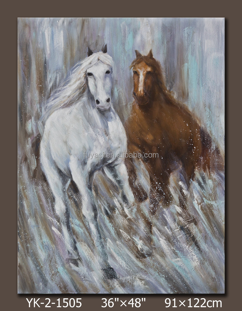 running famous horse paintings, abstract horse painting, printed horse, hot new products for 2015, YK-2-1505