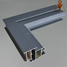 black and white powder coating aluminum profiles for window, doors or curtainwall