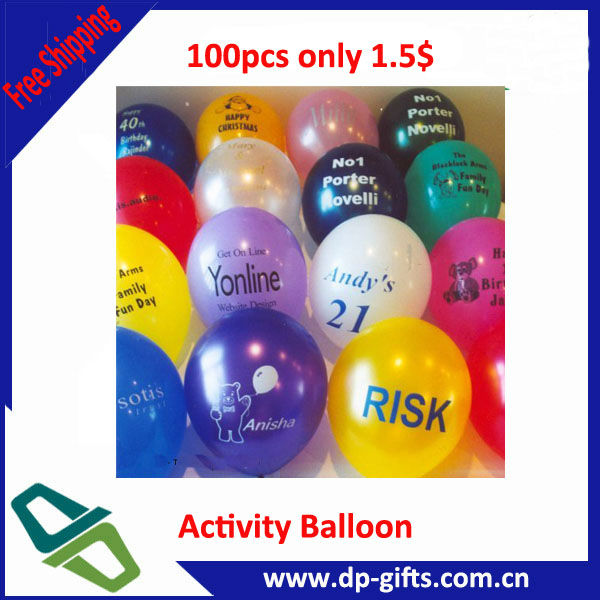 Printed Advertising round helium inflatable balloon for promotion