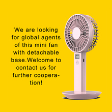 Agent wanted 2018 new handheld detachable pedestal battery rechargeable portable mini fan