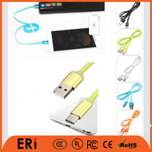 Oem length price mini connector micro charger transfer cord types double ended a to b usb extender cable