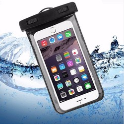 New custom waterproof mobile phone case,waterproof phone dry bag for iphone and android,super clear screen touch phone case