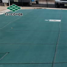 durable defender pp woven ground safety pool cover with good permeability for safety for family