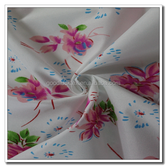 2016 new elegant style beautiful 100% polyester printed pongee