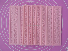 Custom high quality silicone lace molds for cake decorating